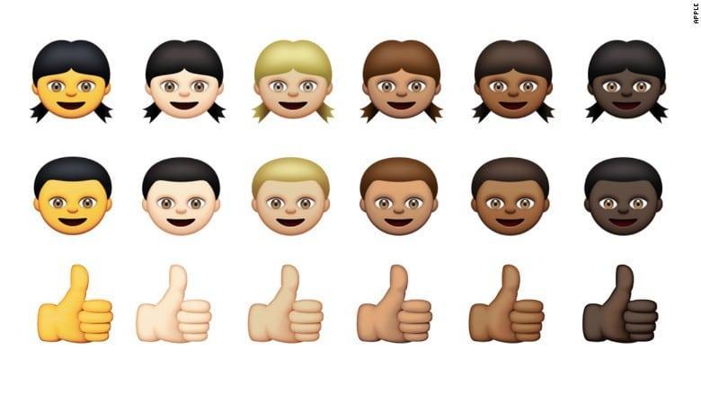 Apple unveils new racially diverse emojis