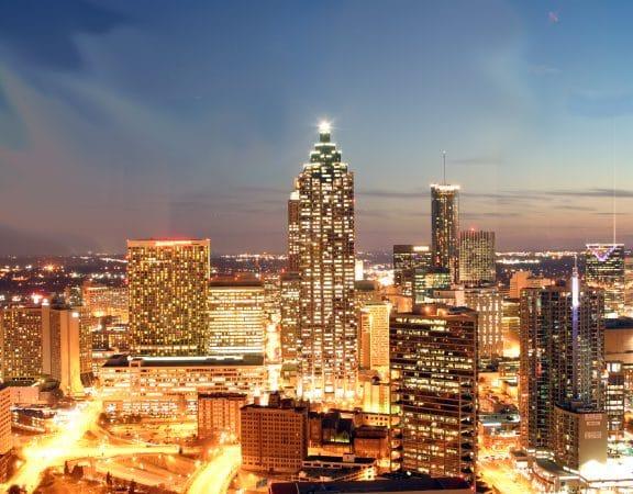 Downtown Atlanta at night