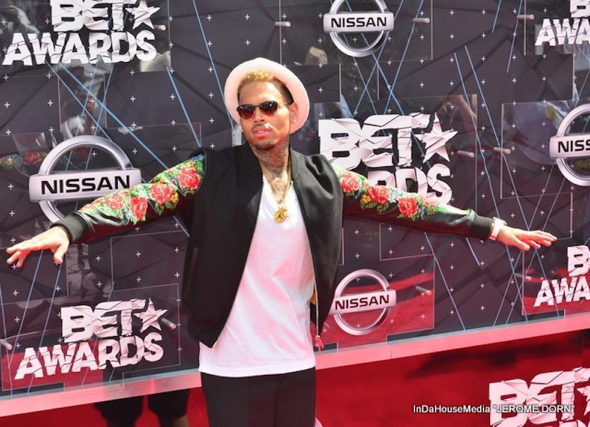 Singer Chris Brown at the 2015 BET Awards