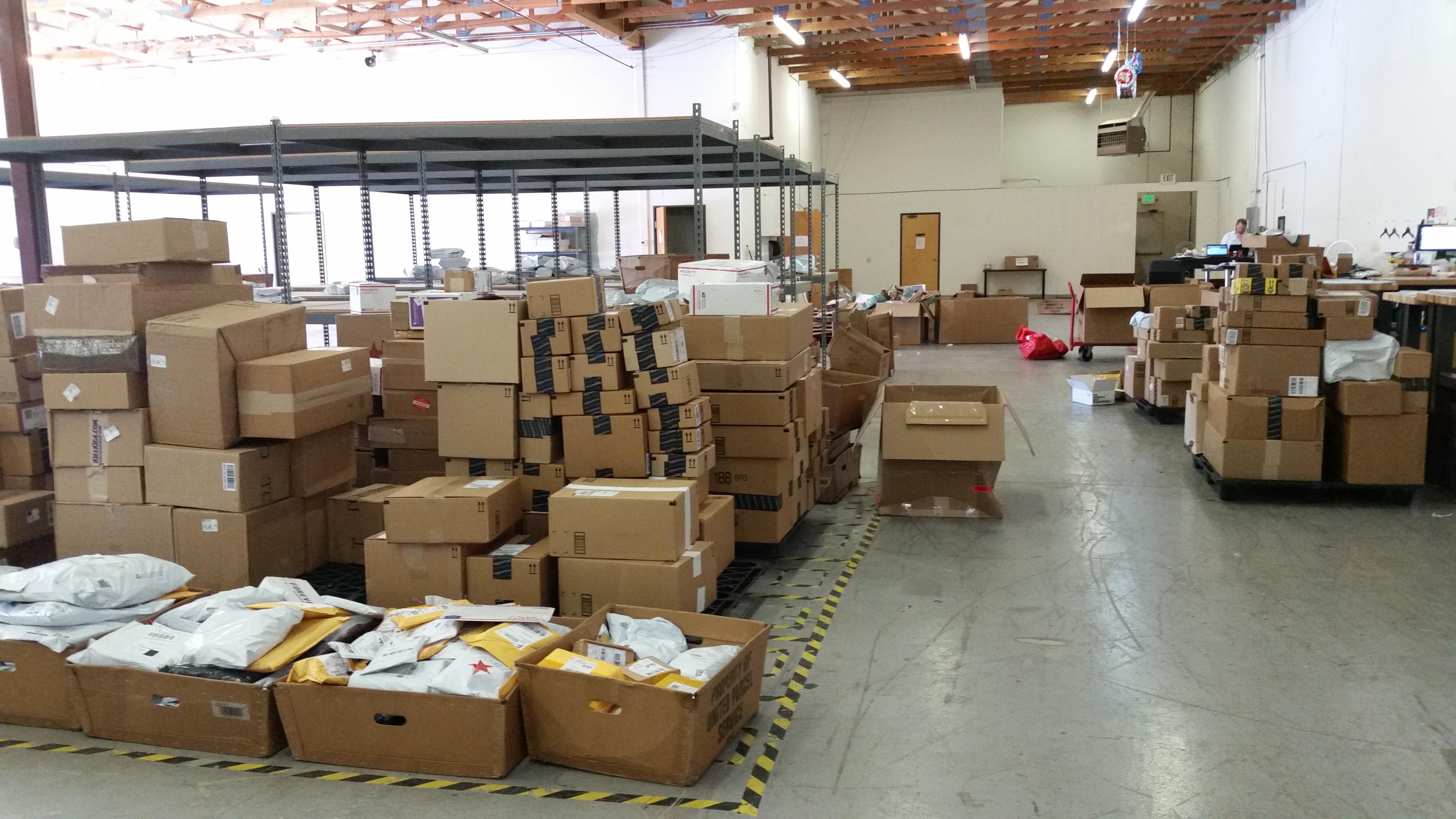 MallforAfrica's warehouse in Portland, Oregon (courtesy of Chris Folayan)