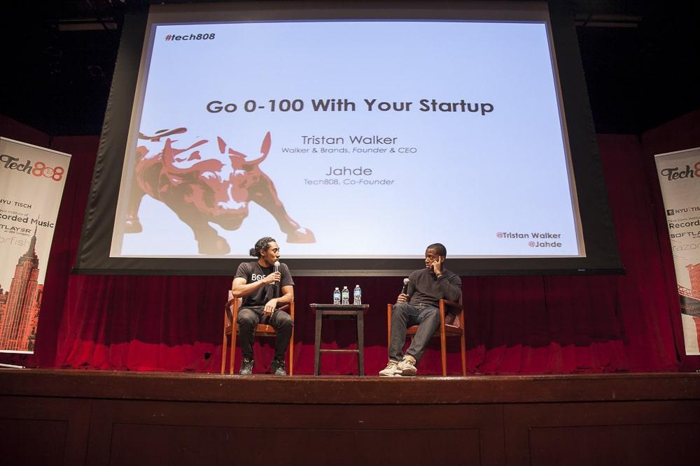Tech808 co-founder Jahde in conversation with Walker & Co. founder Tristan Walker