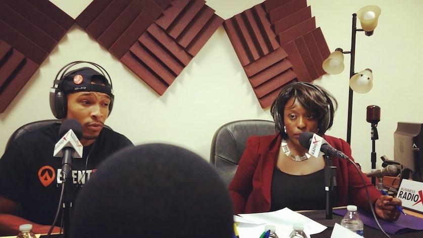 UrbanGeekz Debuts Brand New Radio Show with Business RadioX (on-air host Kunbi Tinuoye with tech entrepreneur Justin McLeod