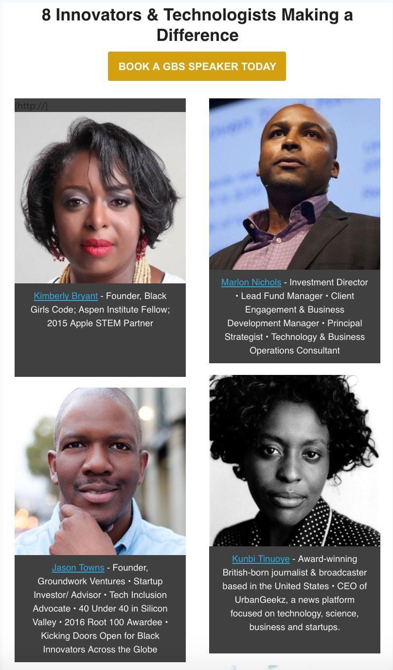 UrbanGeekz Chief Exec Joins Impressive Rank of 'Great Black Speakers'