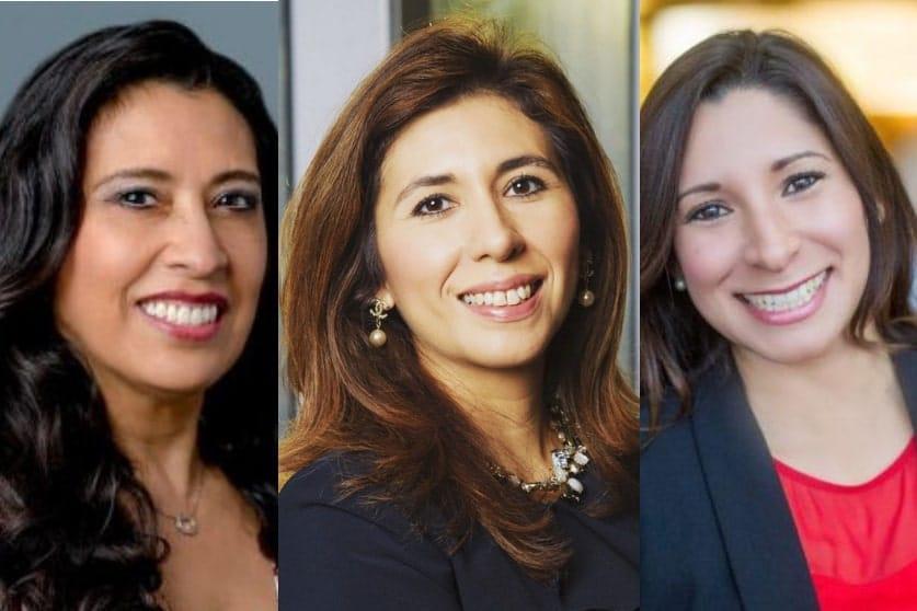 LATINA Style 'Top 12 Corporate LATINA Executives of the Year' nominees Gladys Lopez, Maria T. Lensing, Lisa McLin
